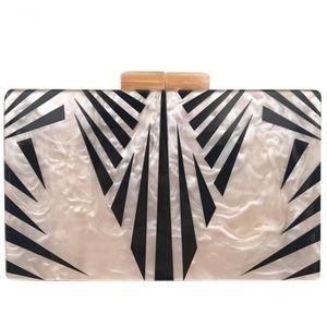 Handbags - Pearlescent Acrylic Clutch Bag Chain Crossbody Bag